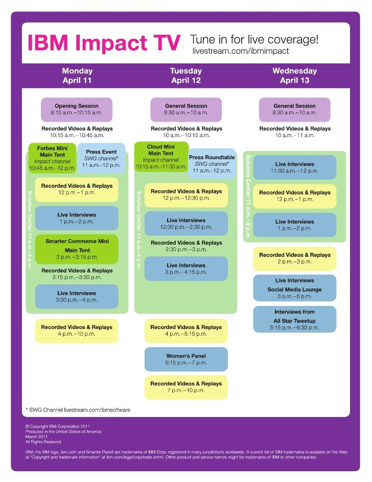Impact TV 2011 Channel Guide