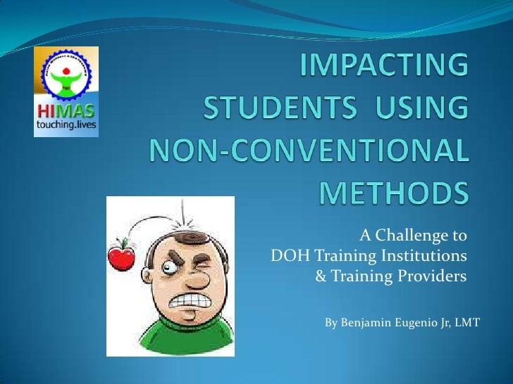 A Challenge toDOH Training Institutions    & Training Providers      By Benjamin Eugenio Jr, LMT