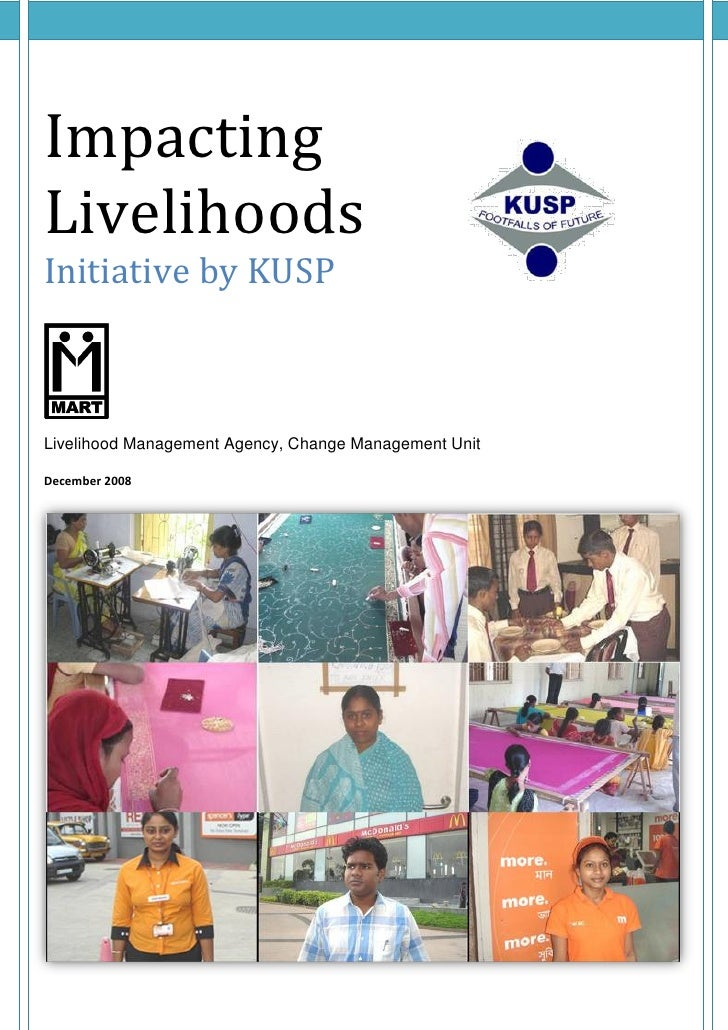 Impacting livelihood of urban poor