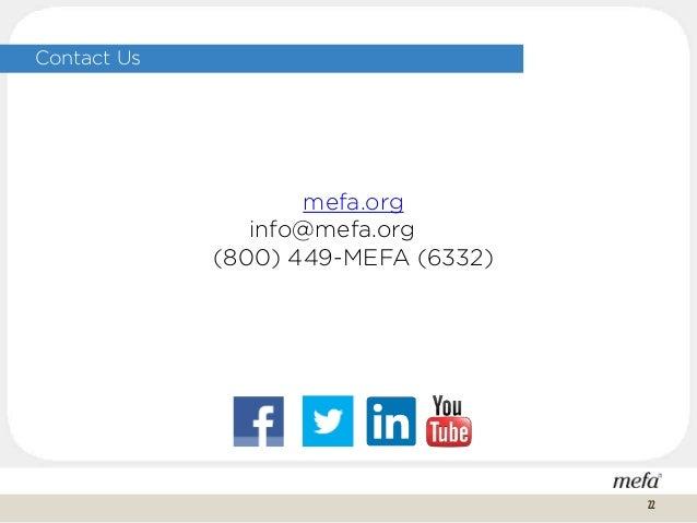Contact Us mefa.org info@mefa.org (800) 449-MEFA (6332) 22