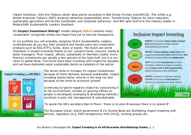 Impact investing in the UN Global Goals Part 1 ENGLISH