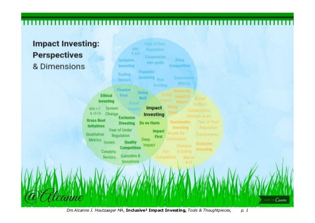 Impact investing perspectives dimensions