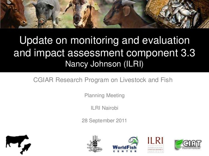 Update on monitoring and evaluationand impact assessment component 3.3             Nancy Johnson (ILRI)   CGIAR Research P...