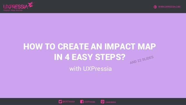 HOW TO CREATE AN IMPACT MAP IN 4 EASY STEPS? with UXPressia WWW.UXPRESSIA.COM @UXPressia /UXPressia /uxpressia