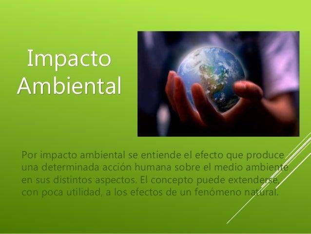 Impacto Ambiental De La Actividad Humana