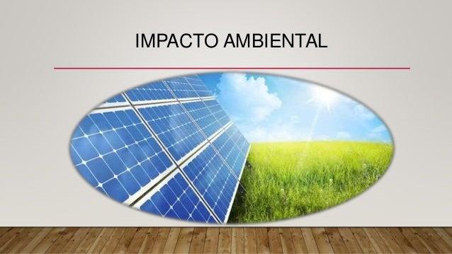 Impacto De La Energia Fotovoltaica