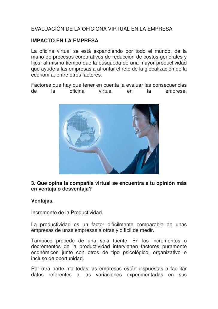 Ventajas y desventajas de una oficina virtual creditomama for Oficina virtual de la ugr