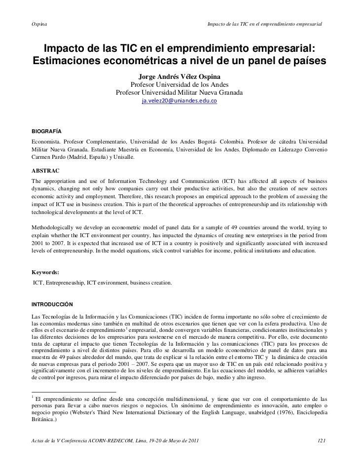Ospina                                                                      Impacto de las TIC en el emprendimiento empres...