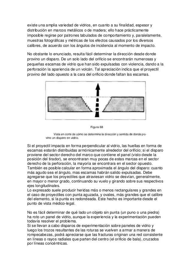 Impacto de proyectiales en vidrio