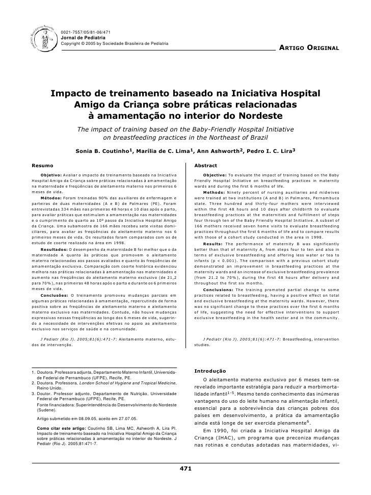 0021-7557/05/81-06/471               Jornal de Pediatria               Copyright © 2005 by Sociedade Brasileira de Pediatr...