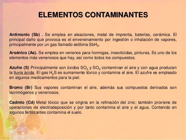 Impacto economico o ambiental quimica for Que elementos conforman el suelo