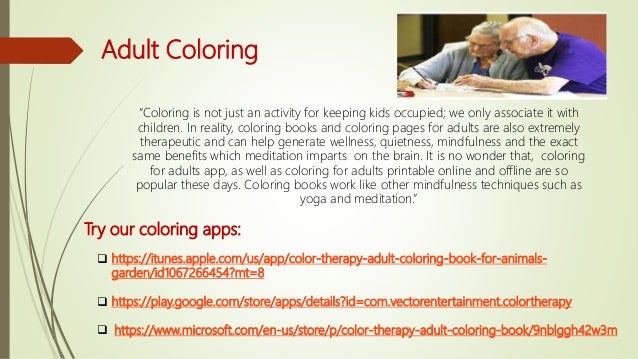 Adult Coloring Book Health Benefits Redefined For Google Play And App