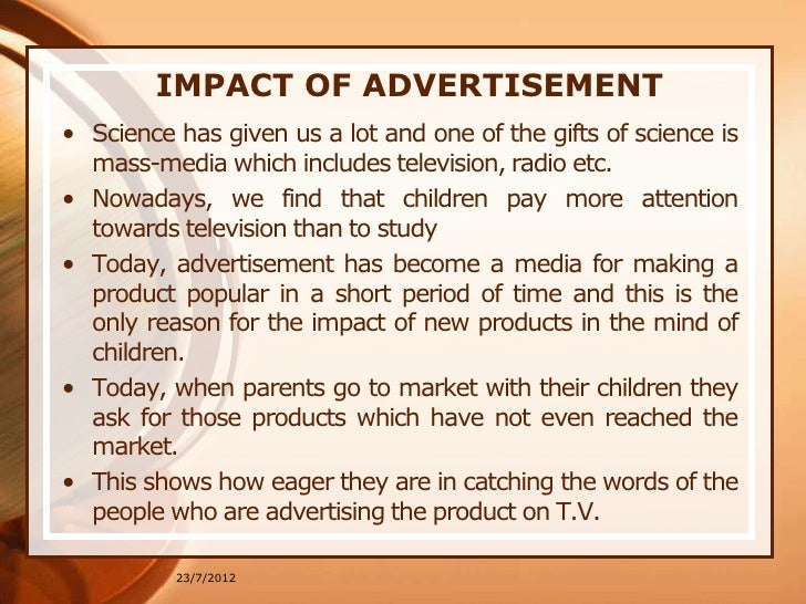 the impact of advertisements Research on discrepancies between the actual self and ideal self has examined  self-discrepancies in knowledge, skills and stature but age-based.