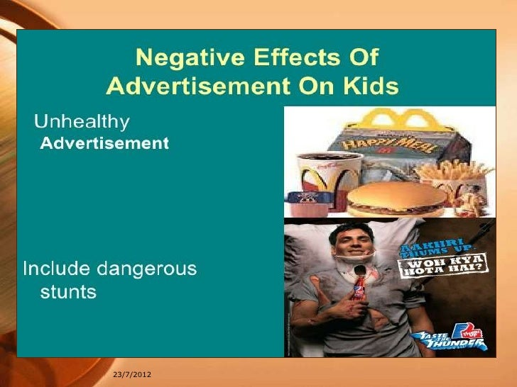 impact of advertisement The impact of an advertisement on a consumer's mood state these ad components may work similarly to the hedonic and utilitarian affective attitude elements suggested by batra (1986) through the process of empathy, the mood inherent to the ad may act to reduce, maintain, or improve the mood of the receiver (hill 1987.