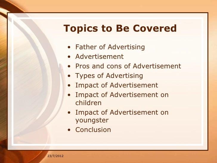 Advertising essay topics