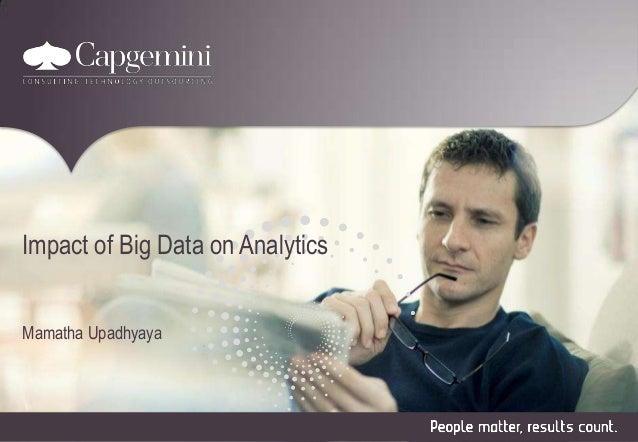 Impact of Big Data on Analytics Mamatha Upadhyaya