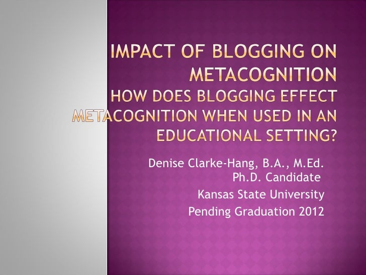 Denise Clarke-Hang, B.A., M.Ed. Ph.D. Student Kansas State University