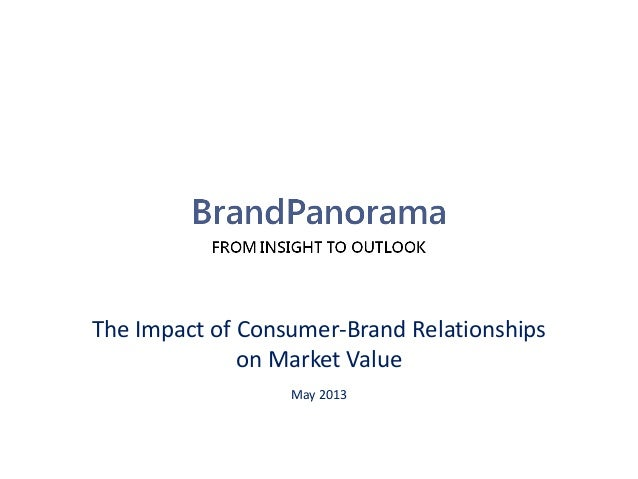 The Impact of Consumer-Brand Relationships on Market Value May 2013