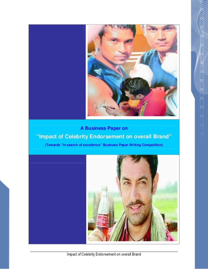 Impact celebrity endorsements brand image pdf
