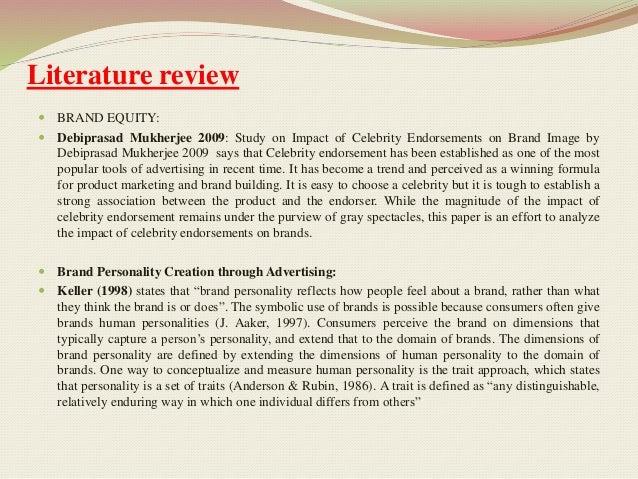 Literature review celebrity endorsement india