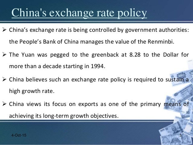 china currency exchange rate For example, between 1994 and 2005, the chinese yuan renminbi (rmb) was pegged to the united states dollar at rmb 82768 to $1 china was not the only country to do this bilateral exchange rate involves a currency pair.