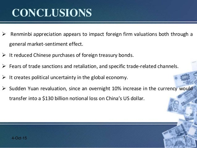 Impact of yuan appreciation