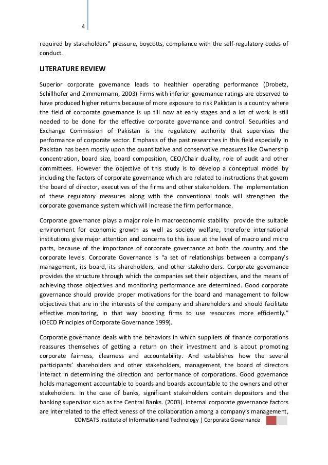 literature review on the impact of information technology in corporate governance and financial repo The hong kong university of science and technology abstract corporate   countries and study the effects in a number of dimensions, including how a   corporate governance is also due to the financial crisis in asia in 1997, which  was  in this paper we review the growing literature on corporate governance  issues.