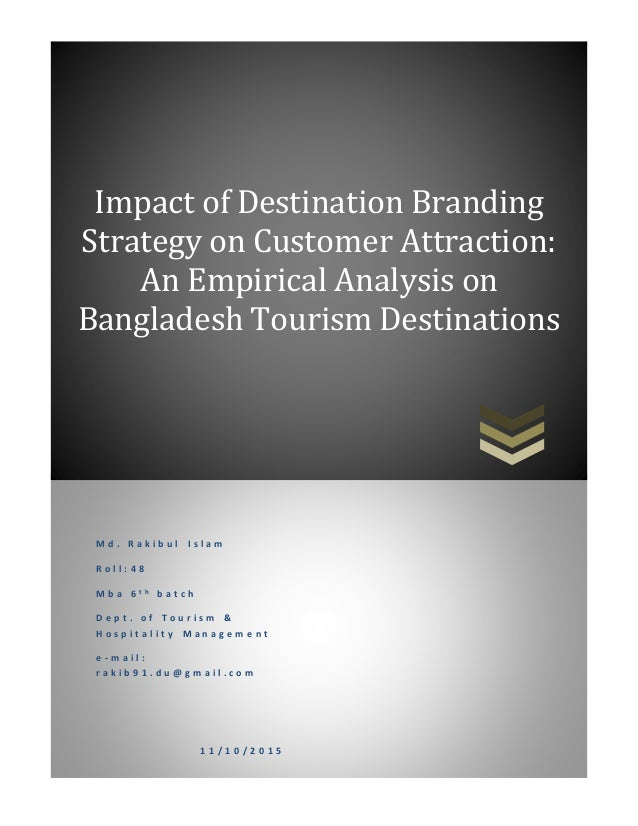 tourism destination branding thesis Culinary tourism for young adult travellers and its connection to destination management bachelor thesis for obtaining the degree bachelor of.