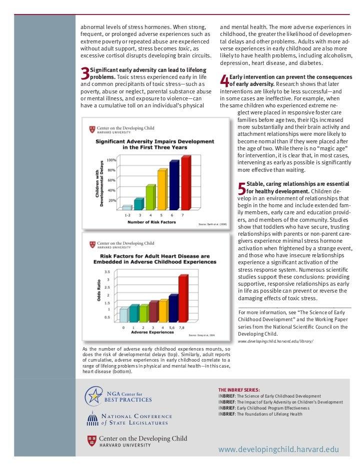 More On Adverse Developmental Impacts >> Impact Of Early Adversity On Children S Development