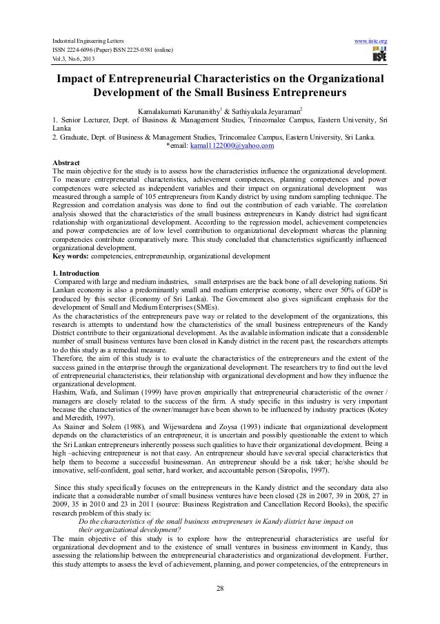 Industrial Engineering Letters www.iiste.org ISSN 2224-6096 (Paper) ISSN 2225-0581 (online) Vol.3, No.6, 2013 28 Impact of...