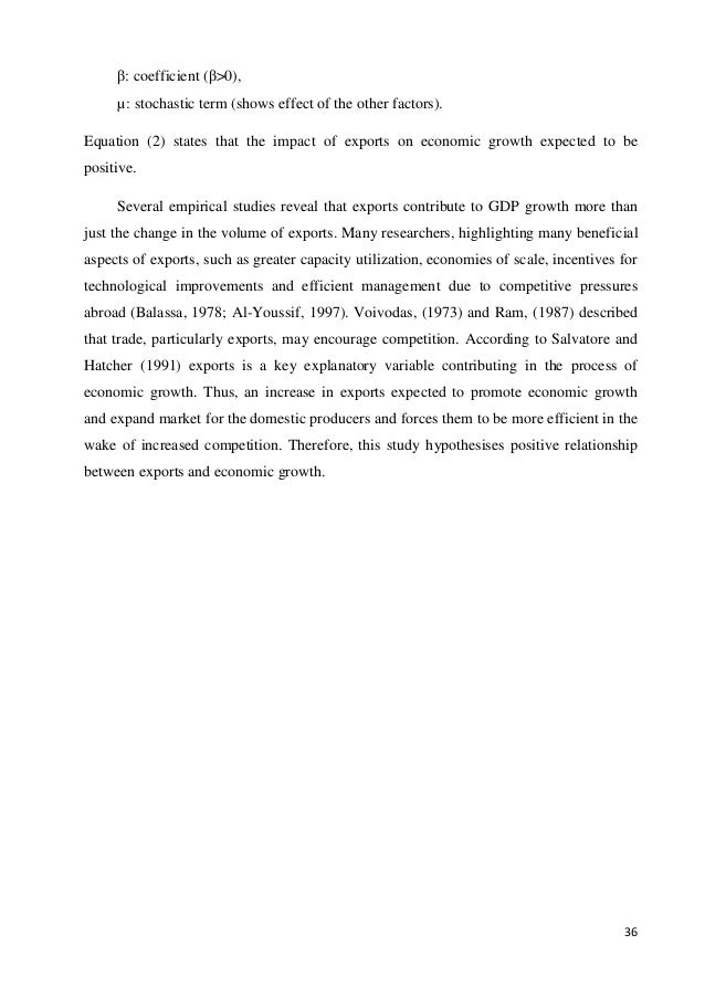 effect of exports on growth The olympic effect andrew k rose, mark m spiegel nber working paper no 14854 issued in april 2009 nber program(s):international finance and macroeconomics.