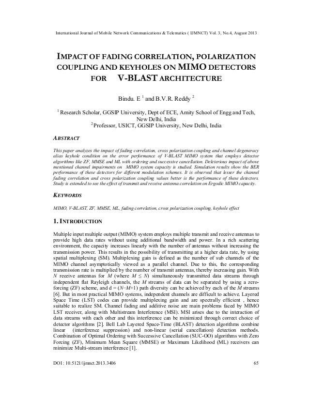 International Journal of Mobile Network Communications & Telematics ( IJMNCT) Vol. 3, No.4, August 2013 DOI : 10.5121/ijmn...