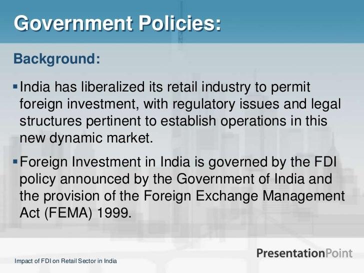 government policies regarding fdi