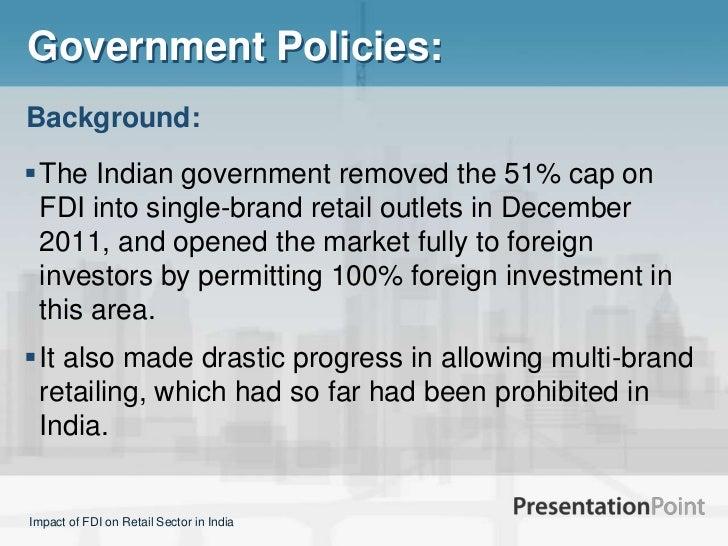 explain government policies regarding fdi