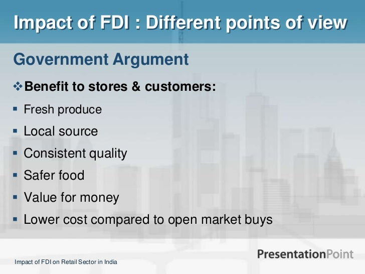 Retail fdi and impact of it
