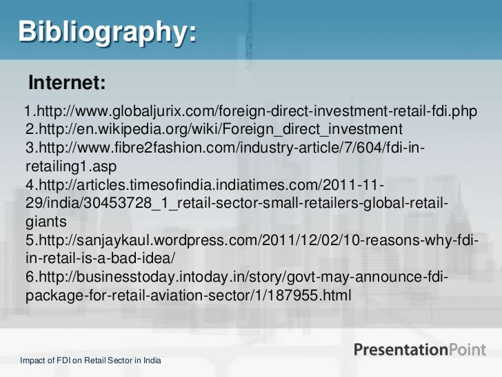 fdi in indian retail sector Free essay: retail sector and foreign direct investment in india sagar g 3rd semester, department of management studies rajeev institution of technology.