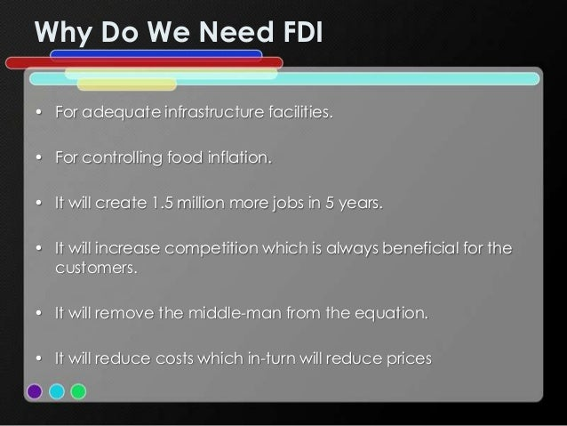 retail fdi and impact of it What is the impact of fdi in the wholesale sector in small cities in india  what will be the impact of the decision of allowing 100% fdi in a single brand retail .