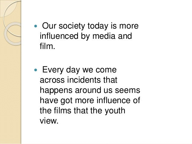 essay movies impact youth Essay on impact of mtv on today's youth - what do teenagers from across the globe have in common  tv shows, movies, video games, and music [tags: video games .