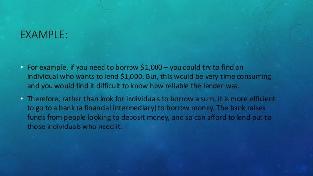 Impact Of Financial Intermediaries On Economy