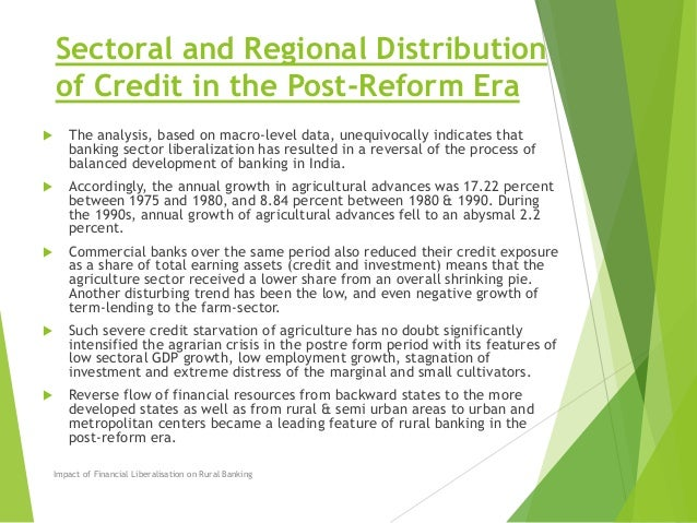 the impact of rural banking on development This study was limited to the impact of rural banking on rural farmers there are a number of factors that boost rural development but very limited mention was made of.
