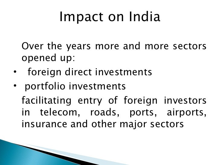 ppt on globalisation and the indian economy