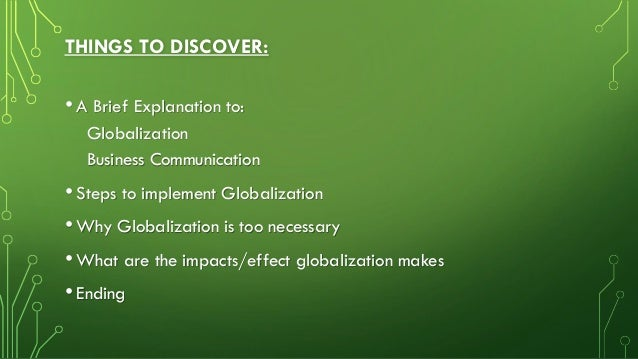 Impact of Globalization on Business Communication