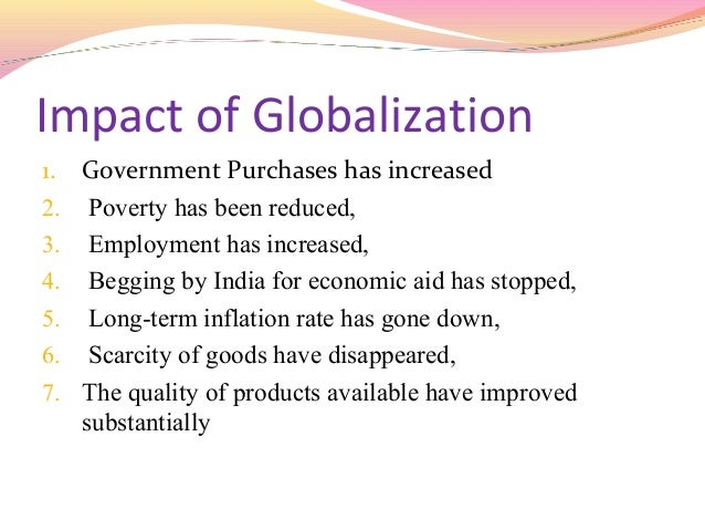 the impact of globalisation on the
