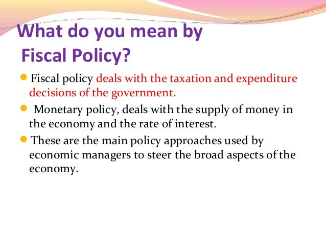 fiscal policy assignments