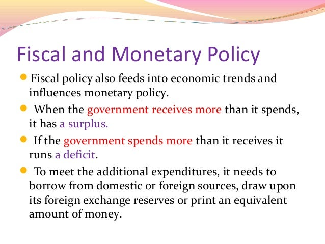The impact of fiscal policy