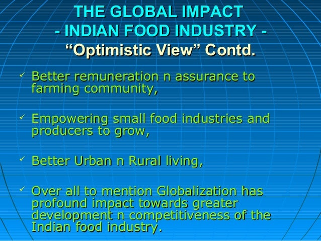 the political impact on fast food industry Macro- environmental factors effecting fast food the impact this has on a market although the fast food industry does not have so great research and.