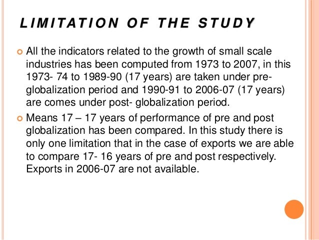 Limitations of small scale industries