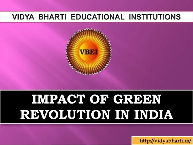 Critically examine green revolution in india