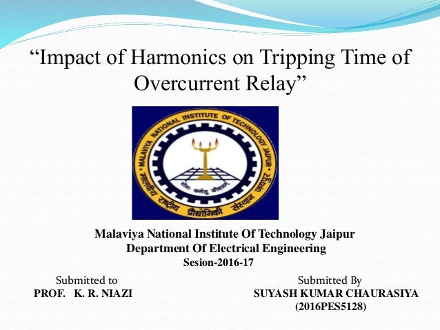 impact of harmonics on tripping time of the relay rh slideshare net Relay Switch Wiring Diagram 5 Pin Relay Wiring Diagram