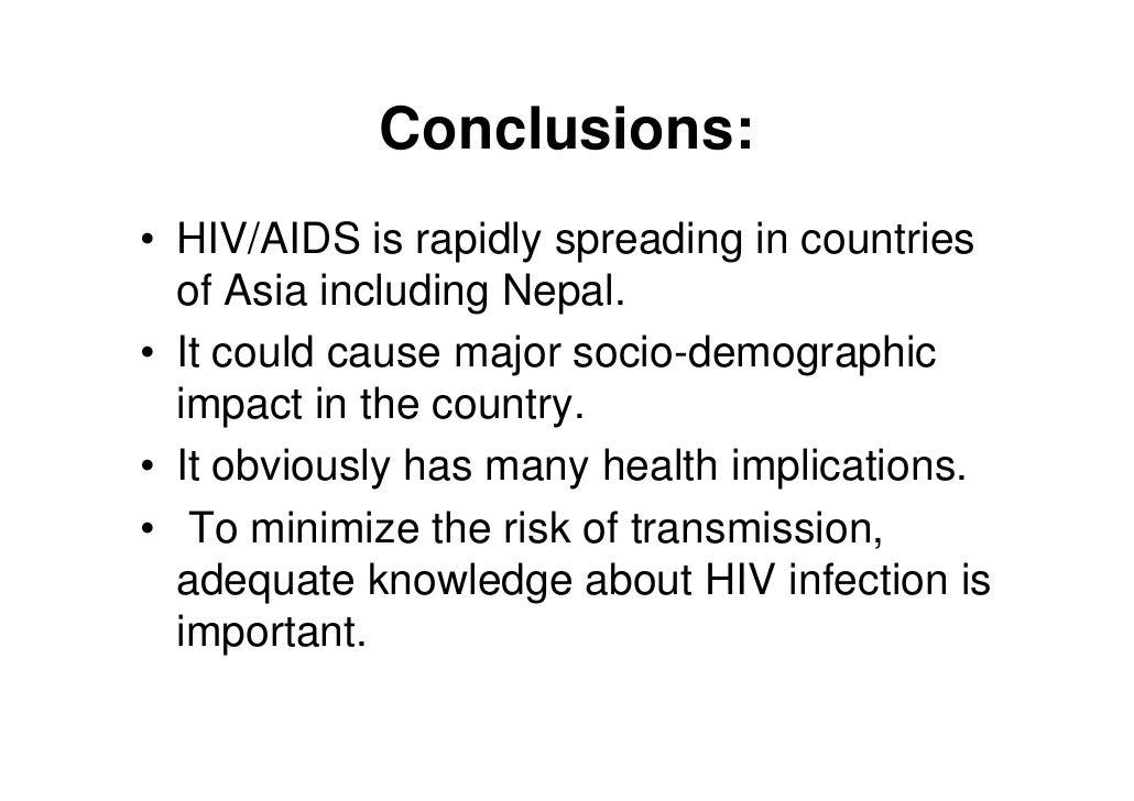 aids conclusion ppt